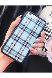 Wildflower Cases Blue Plaid iPhone 11 Pro Case - Front full body