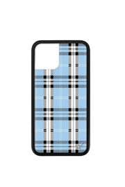 Wildflower Cases Blue Plaid iPhone 11 Pro Case - Front cropped
