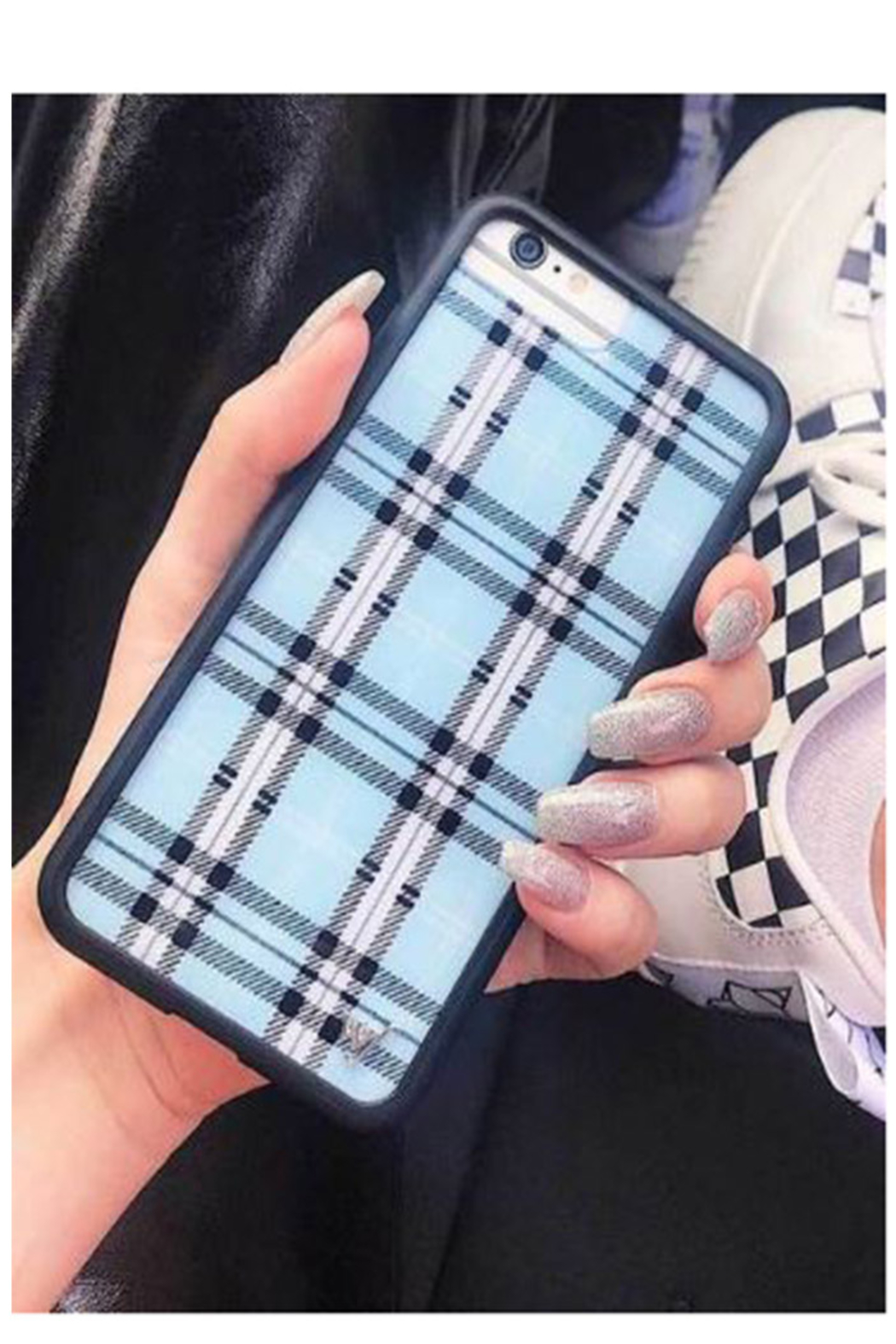 uk availability 3d41f 9a9e0 Wildflower Cases Blue Plaid iPhone 6/7/8 from New York by Let's Bag ...