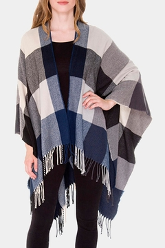 Wild Lilies Jewelry  Blue Plaid Poncho - Product List Image
