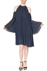 Jovonna  Blue Pleated Dress - Product Mini Image