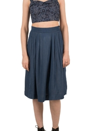 Birds of North America Blue Pleated Skirt - Product Mini Image