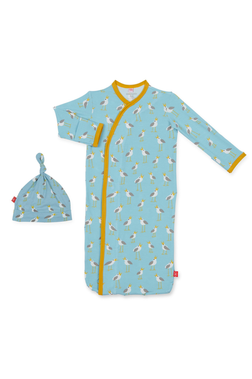 Magnetic Me Blue Plovers Modal Gown and Hat - Main Image