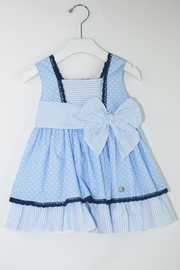 Dolce Petit Blue Polkadots Dress - Front cropped