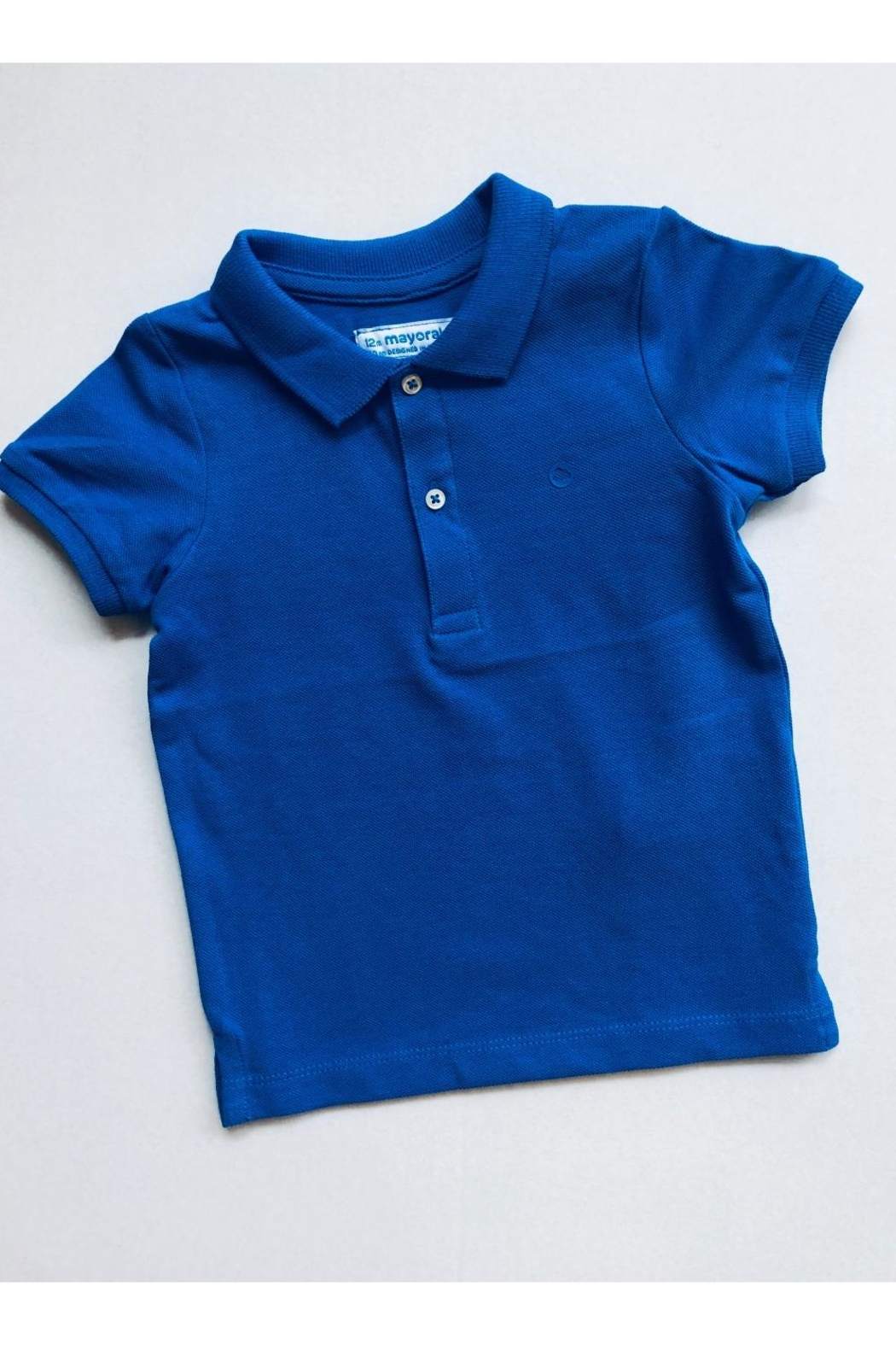 Mayoral Blue Polo - Front Cropped Image