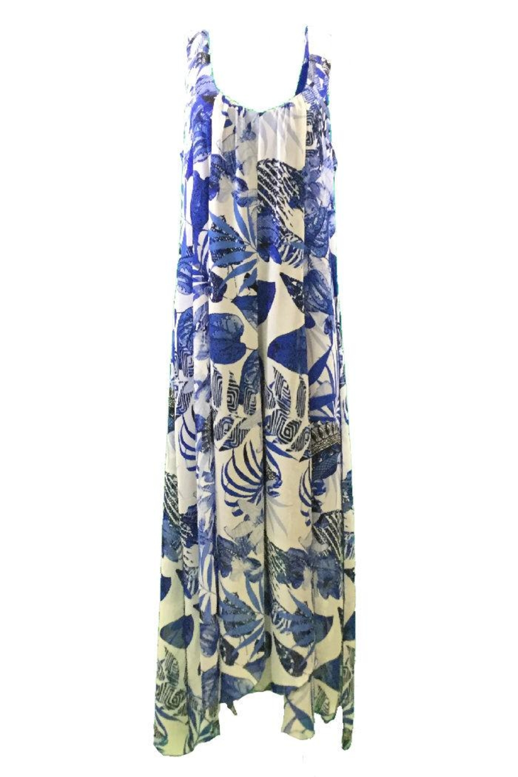 Michael Tyler Collections Blue print maxidress - Main Image