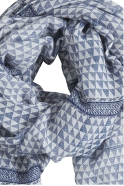 B.young Blue Print Scarf - Side cropped
