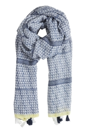 B.young Blue Print Scarf - Front full body