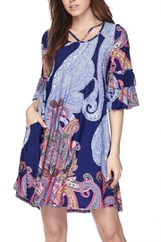 KITTY COUTURE  Blue Printed Tunic - Product Mini Image