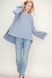 fashion on earth Blue Pullover Sweater - Product Mini Image
