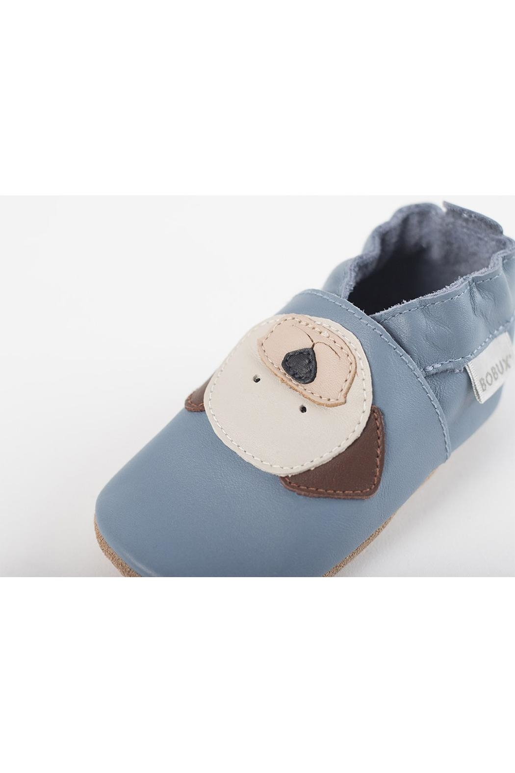Bobux Blue-Puppy Soft-Sole Shoes - Front Full Image