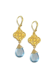 Malia Jewelry Blue-Quartz Charm Earrings - Product Mini Image