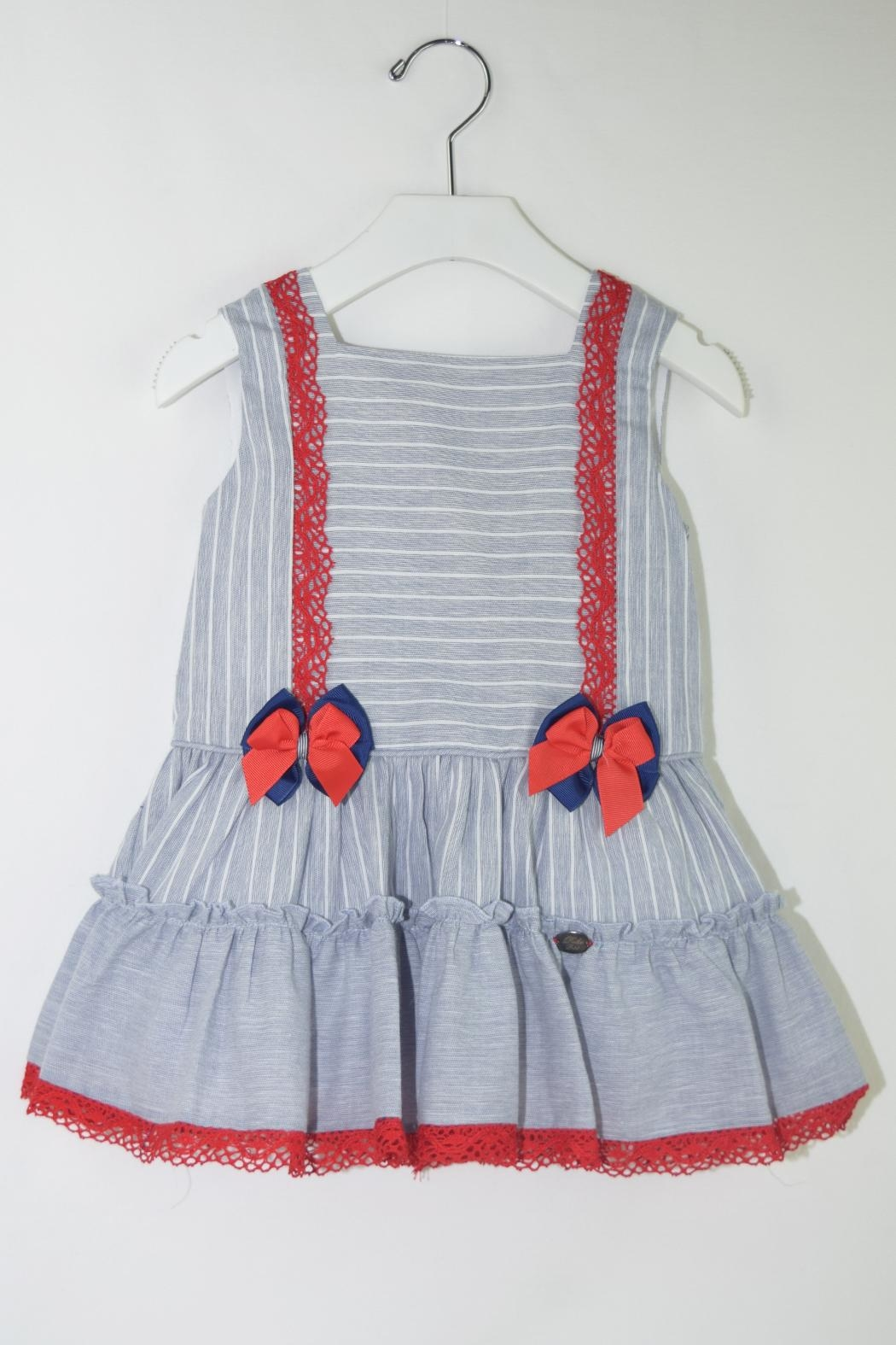 Dolce Petit Blue & Red Dress - Main Image