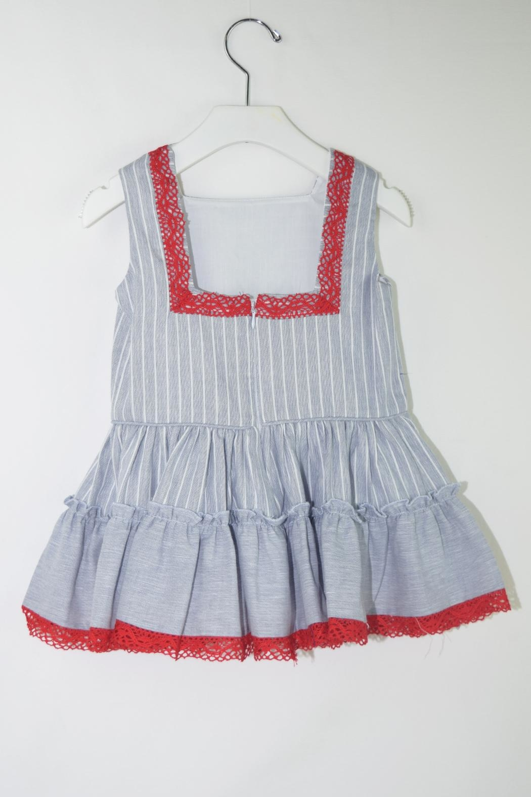 Dolce Petit Blue & Red Dress - Front Full Image