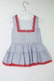 Dolce Petit Blue & Red Dress - Front full body