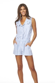 Young Fabulous & Broke Blue Rodeo Romper - Product Mini Image