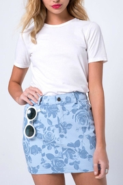 Motel Rocks Blue Rose Miniskirt - Product Mini Image