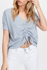 Maronie  Blue Ruched Top - Front full body