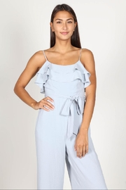 essue Blue Ruffle Jumpsuit - Back cropped