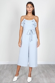 essue Blue Ruffle Jumpsuit - Front cropped