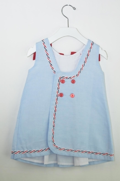 Dolce Petit Blue Sailor Dress - Alternate List Image