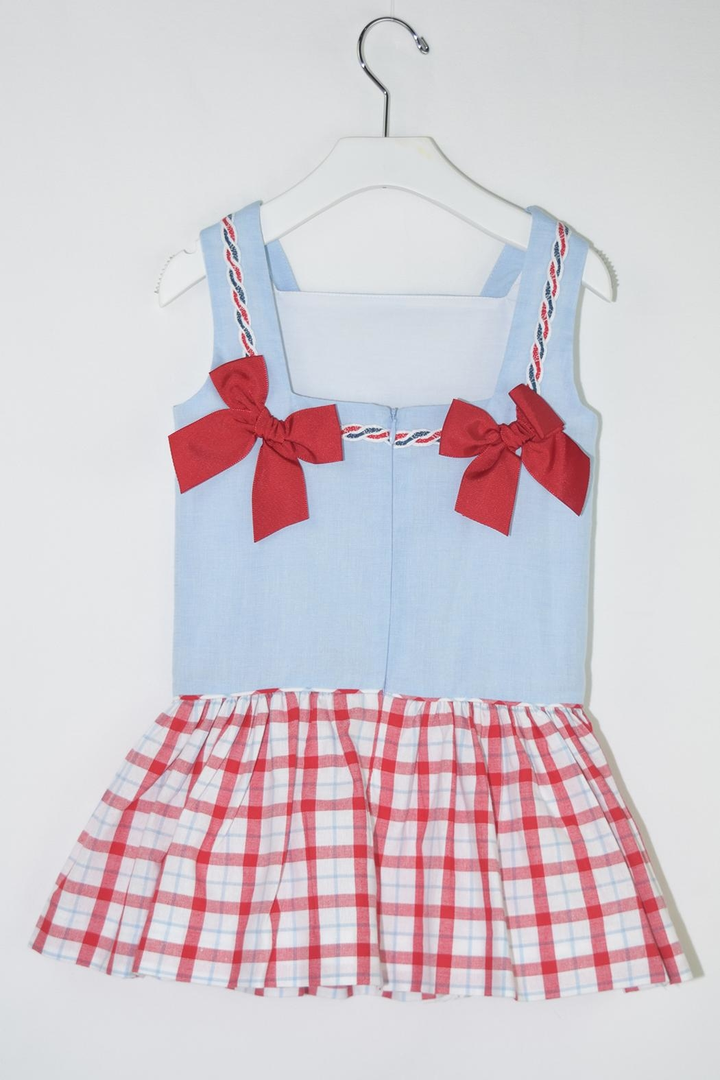 Dolce Petit Blue Sailor Dress - Front Full Image