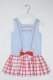 Dolce Petit Blue Sailor Dress - Front cropped