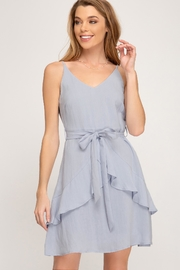 She + Sky Blue Sash Dress - Product Mini Image