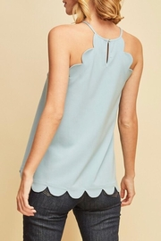 LuLu's Boutique Scallop Tank - Front full body