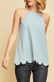 LuLu's Boutique Scallop Tank - Front cropped