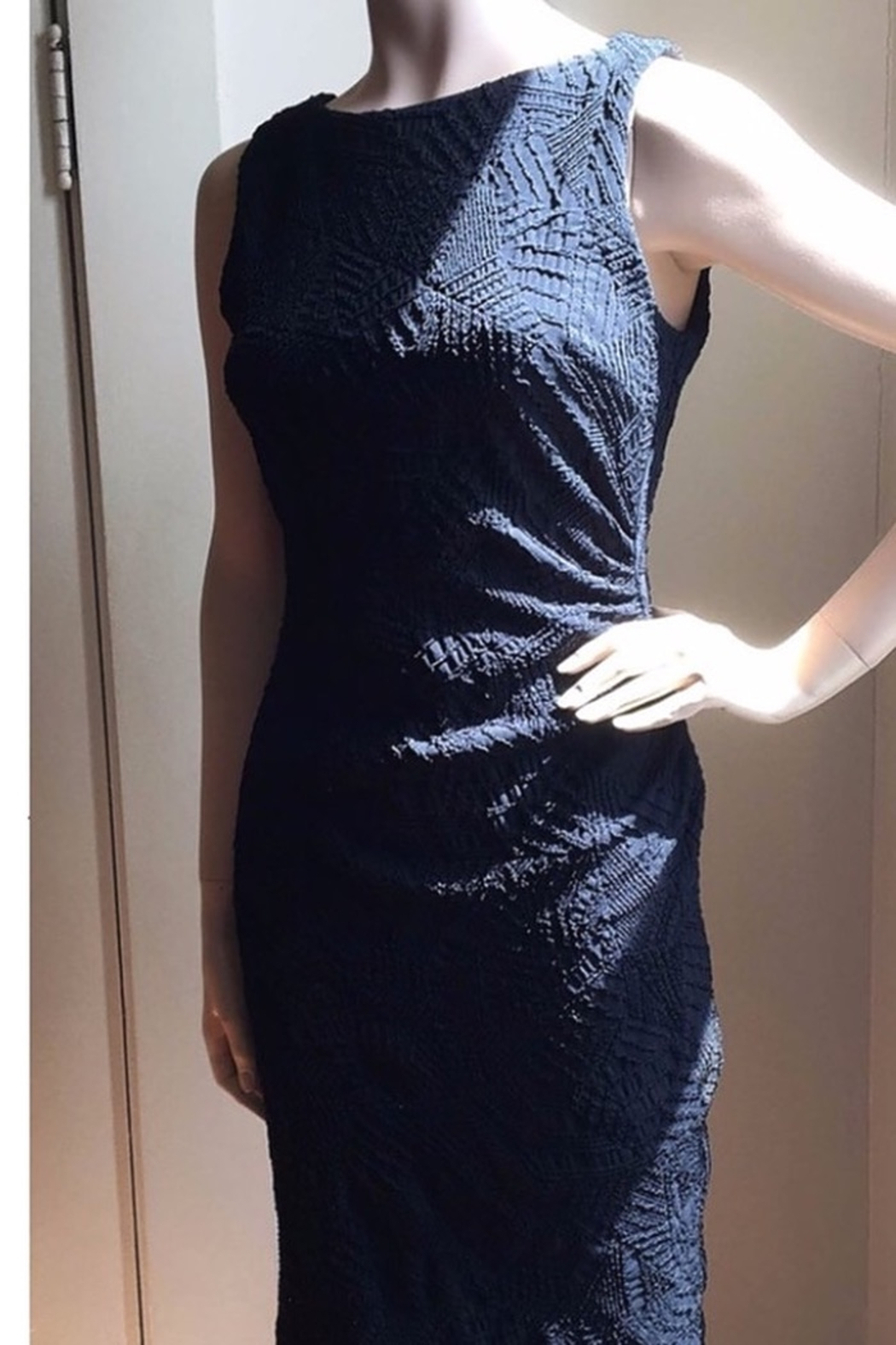 Joseph Ribkoff  Blue scoop neck dress - Main Image