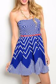 Blue Skater Dress - Product Mini Image