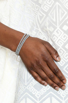 Shoptiques Product: Grey Beaded Wrap