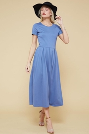 Promesa USA Blue-Slate Flare Dress - Product Mini Image
