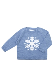 Fina Ejerique Blue Snowflake Sweater. - Front cropped