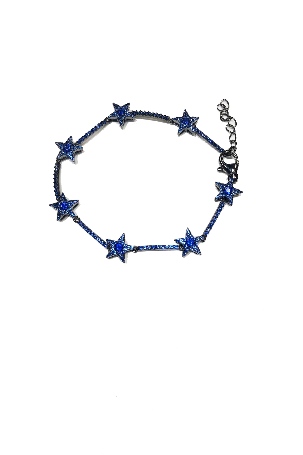 Lets Accessorize Blue Star Bracelet - Front Cropped Image