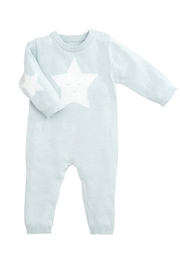 Elegant Baby Blue Star Jumpsuit - Front cropped