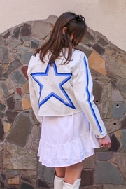 Avery Rowan Art Blue Star on White Denim Jacket - Product Mini Image