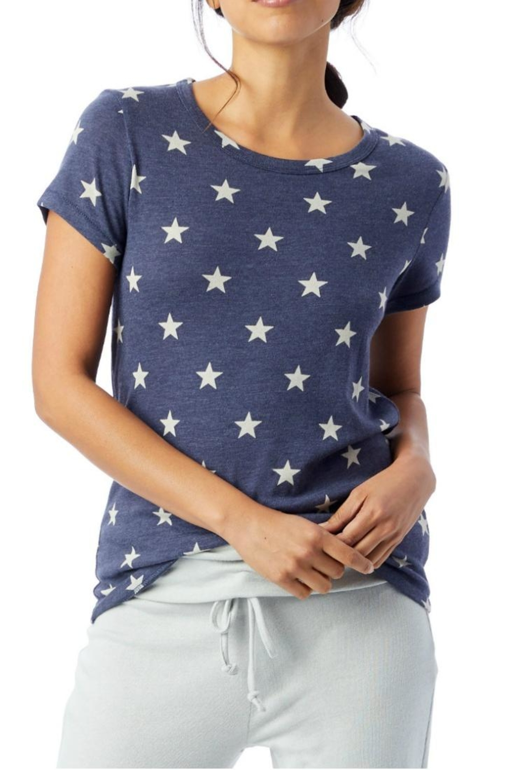 Alternative Apparel Blue Star Tee - Front Cropped Image