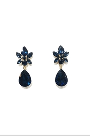 Lets Accessorize Blue-Stone Drop Earrings - Product Mini Image