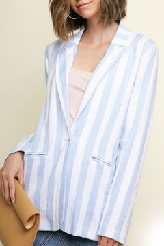 Umgee USA Blue Stripe Blazer - Alternate List Image