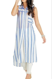Mud Pie Blue Stripe Duster - Product Mini Image