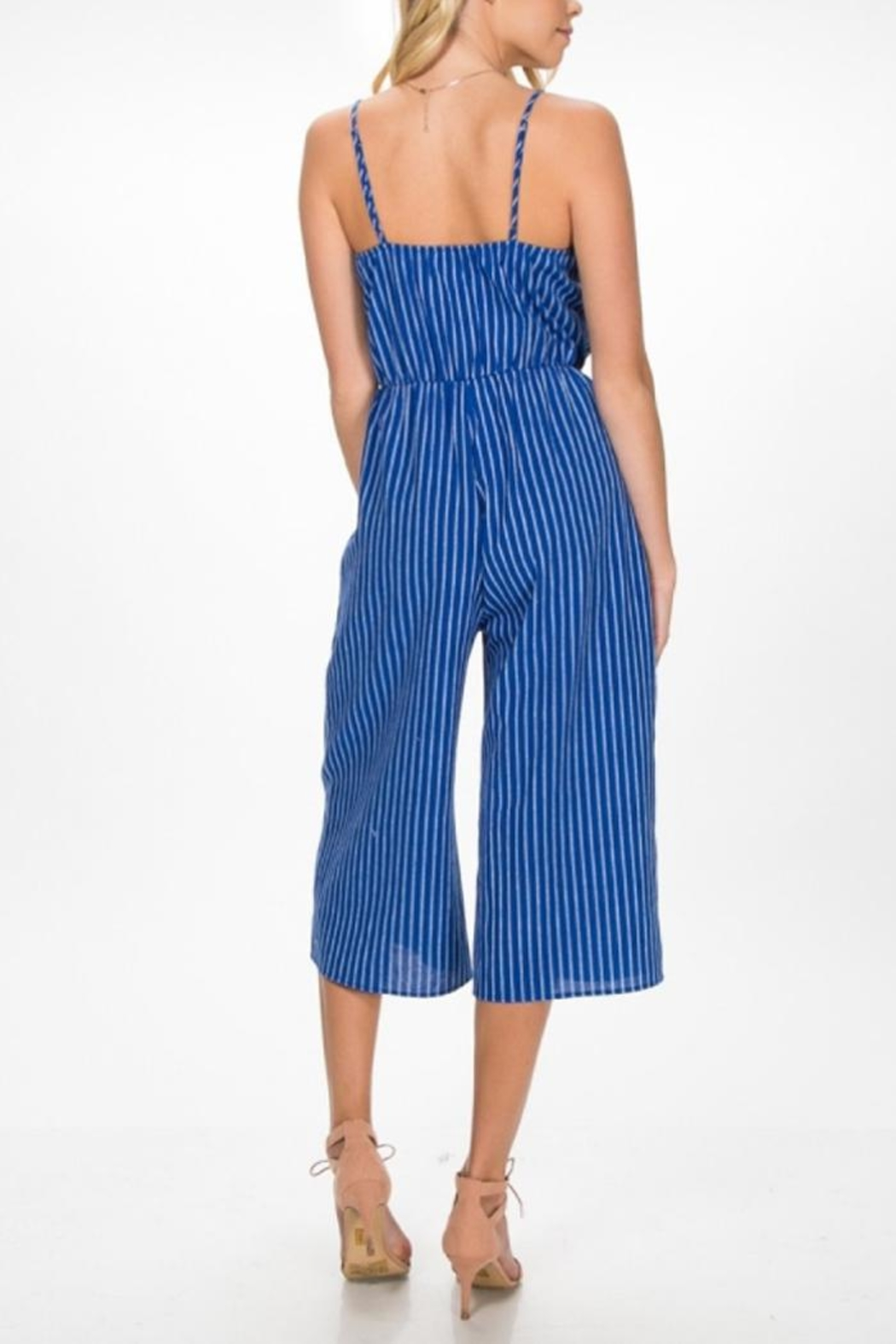97f34c7acec Everly Blue Stripe Jumpsuit from New York City by Local Color NYC ...