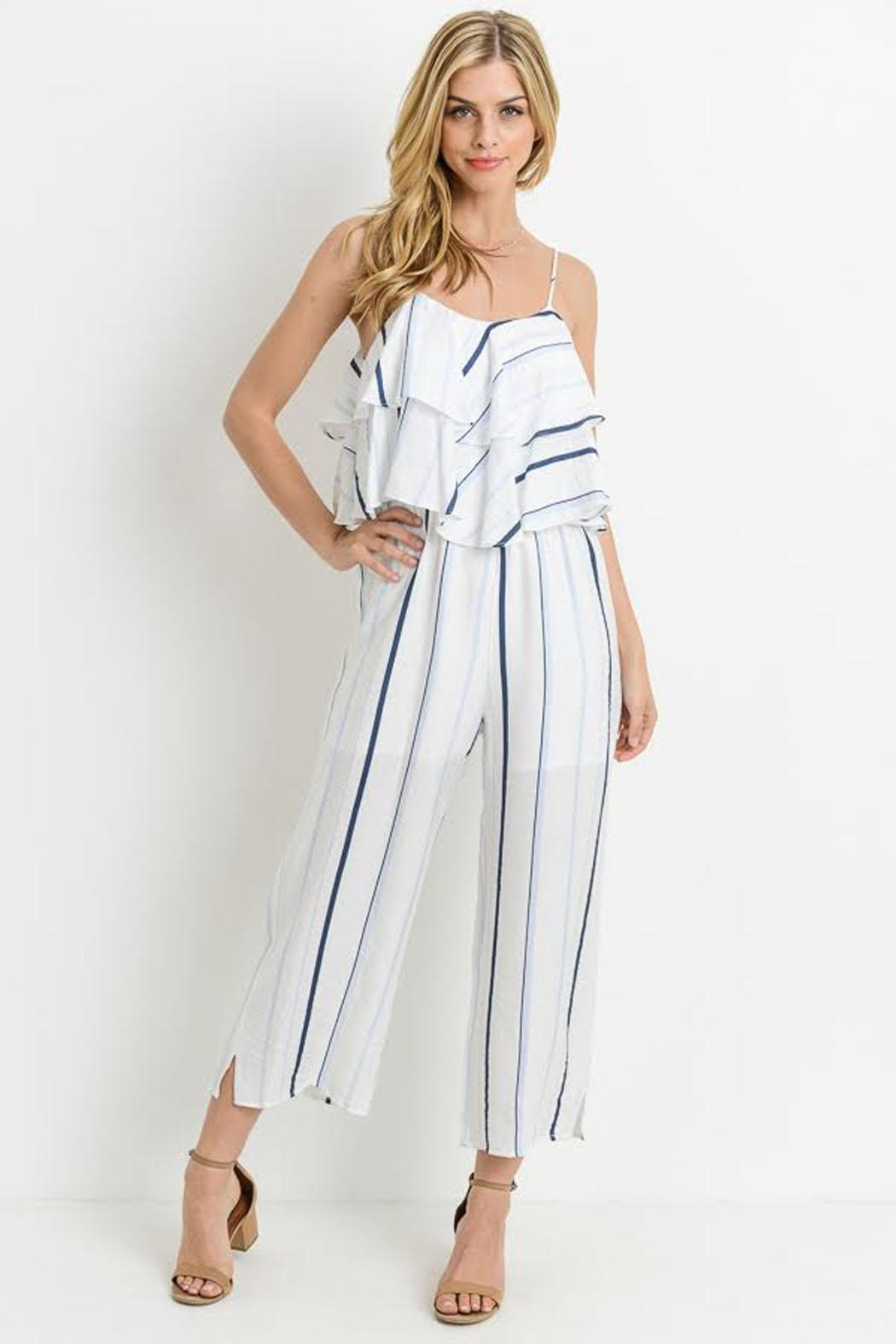 c687dd2f83c7 Bio Blue Stripe Jumpsuit from Brooklyn by BB Collective — Shoptiques