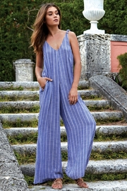Elan Blue Stripe Jumpsuit - Product Mini Image