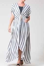 Love in  Blue Stripe Kimono - Product Mini Image
