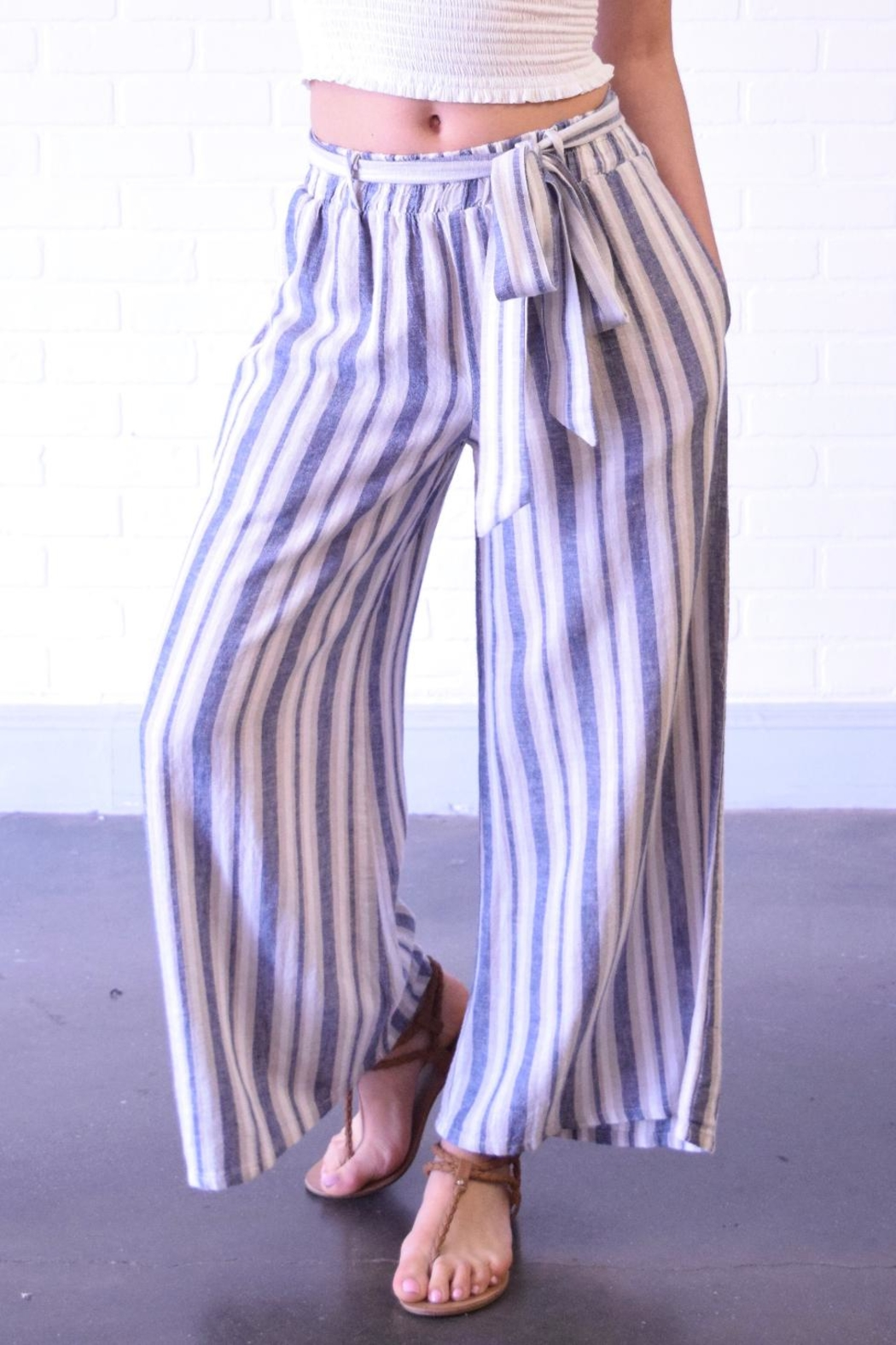 Final Touch Blue Stripe Pants - Main Image