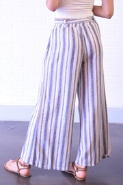 Final Touch Blue Stripe Pants - Side cropped