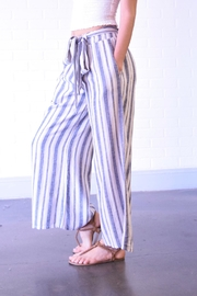 Final Touch Blue Stripe Pants - Front full body