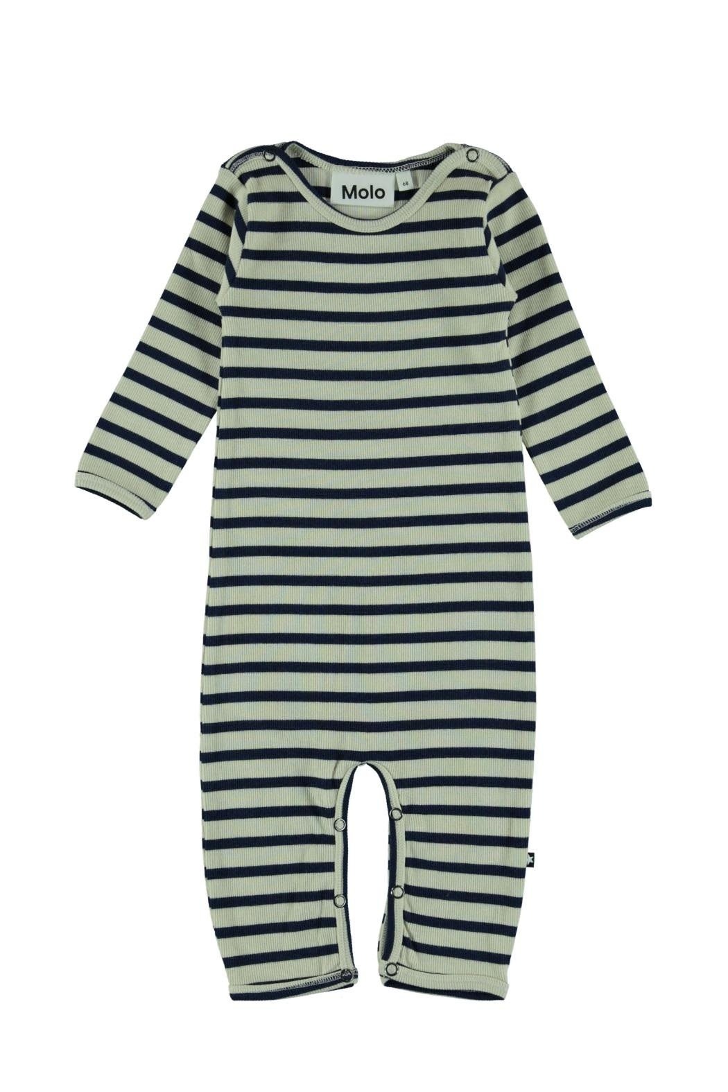Molo Blue Stripe Playsuit - Main Image